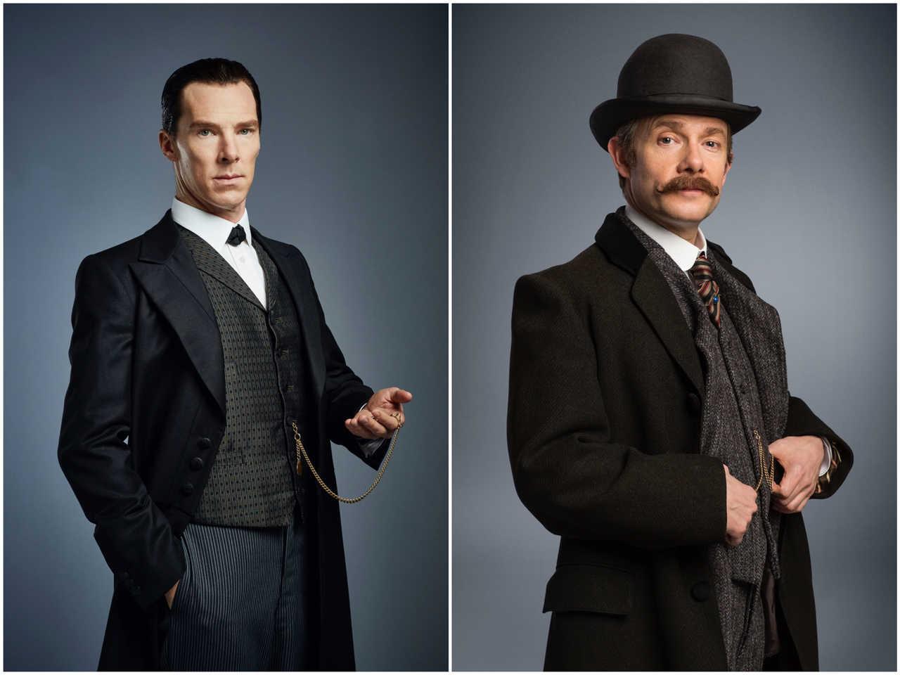 Sherlock-special-Cumberbatch-Freeman-posters