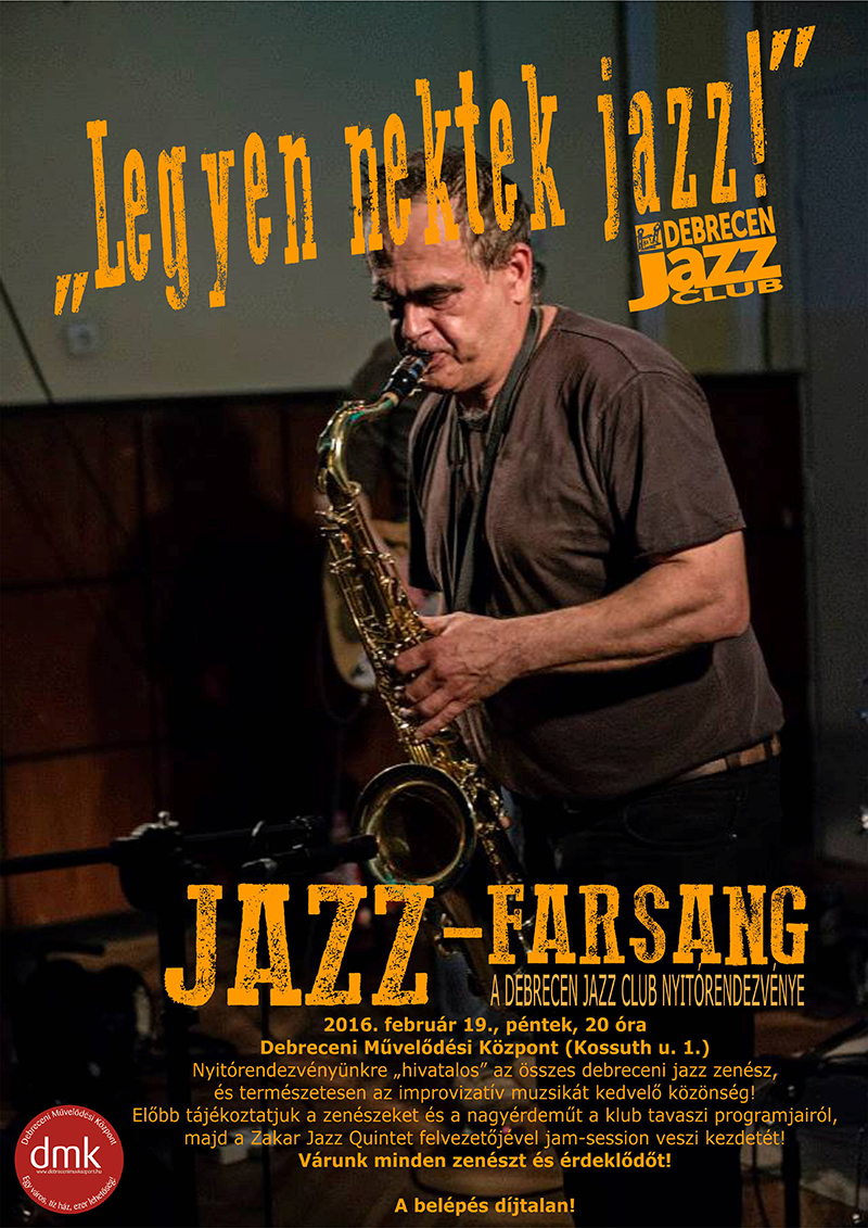 Jazz-Farsang plakát