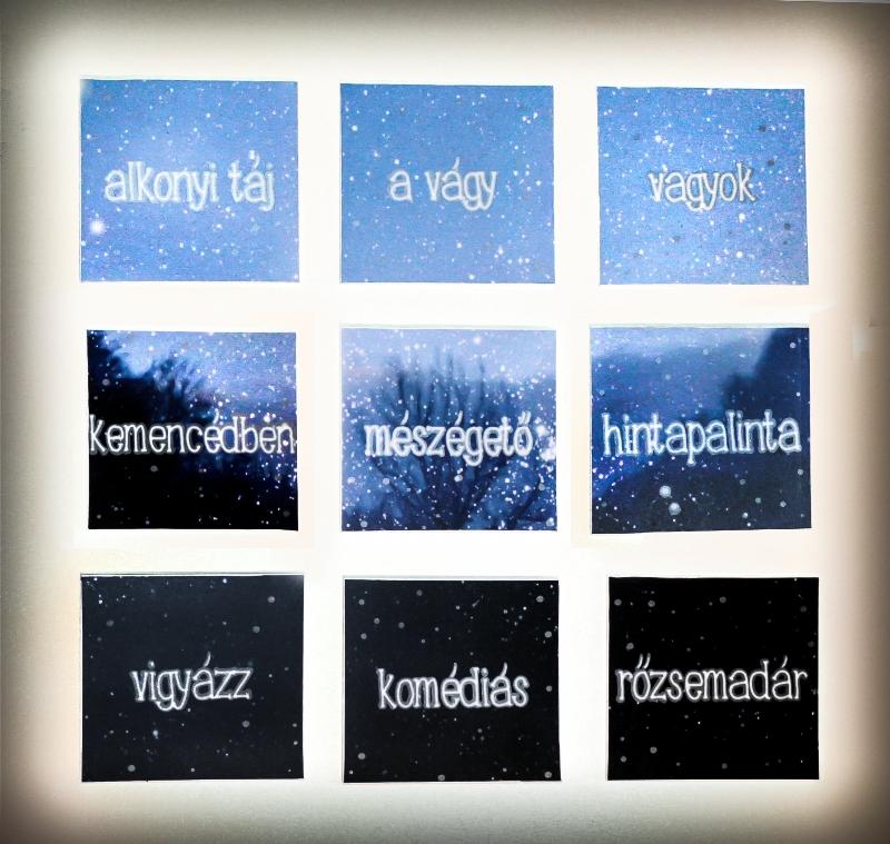 Mészégető - digitális nyomat, vágott fólia, mágnes - 60x60cm - 2013
