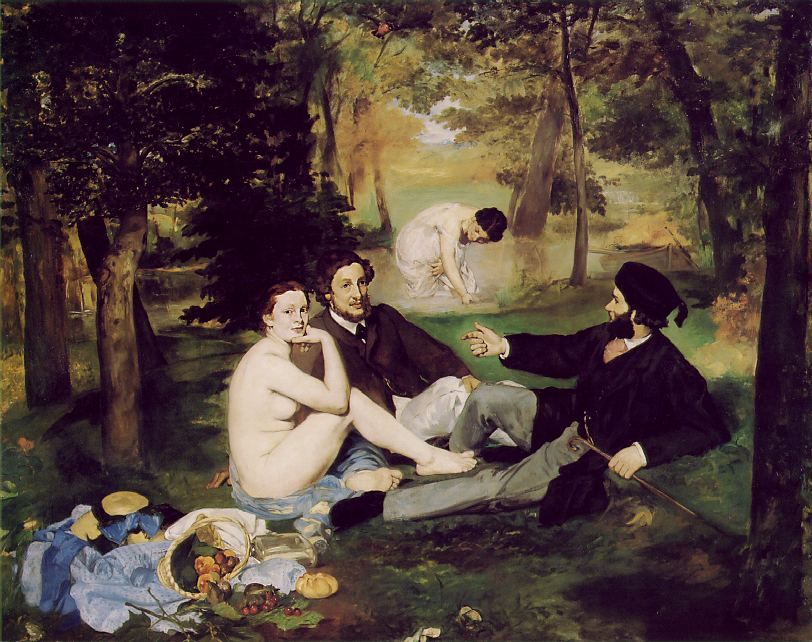 Le d_jeuner sur l'herbe _ French, The Lunch on the Grass, 1865, by Edouard Manet