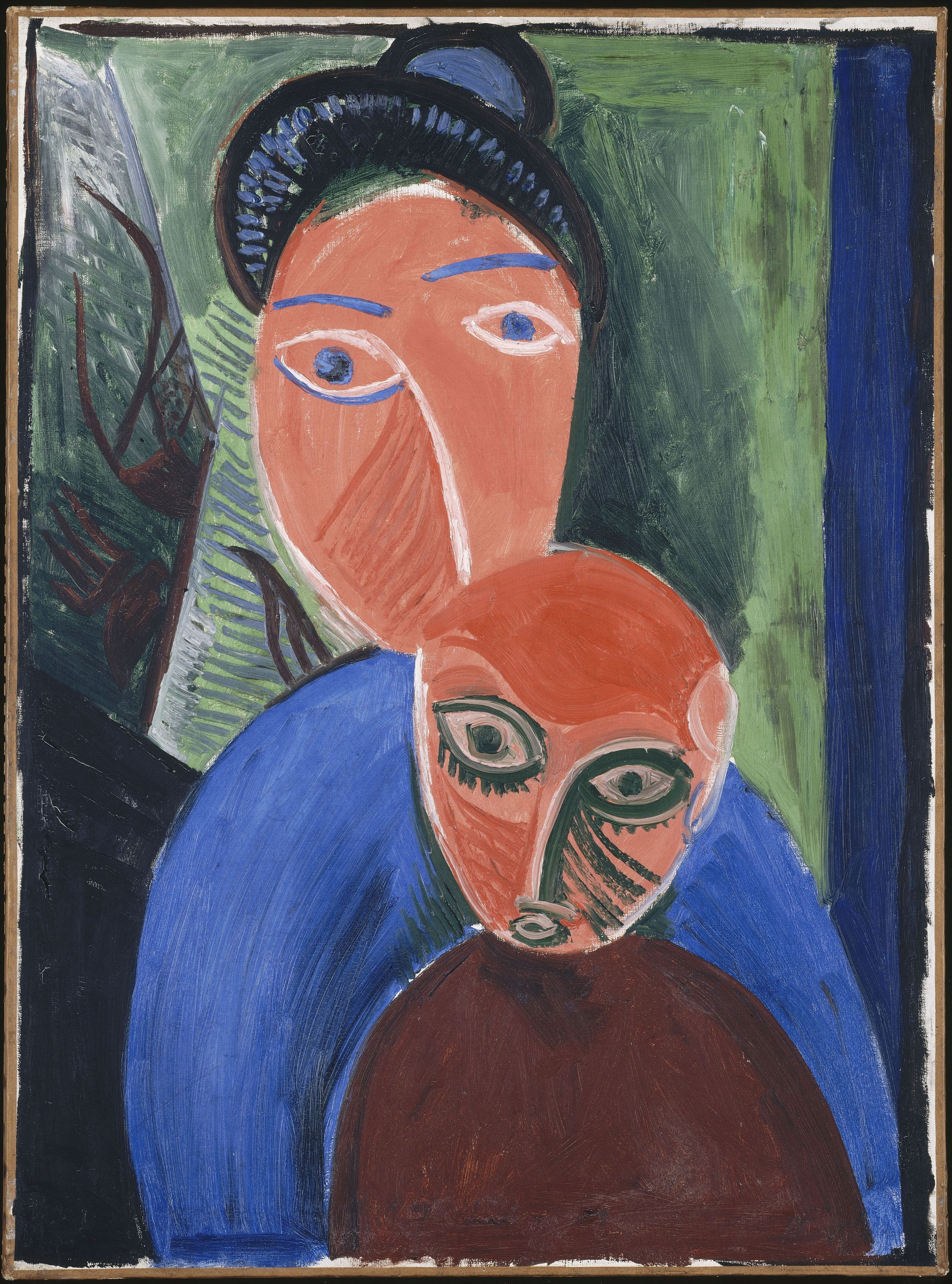 Pablo Picasso_ Anya es gyermeke 1907