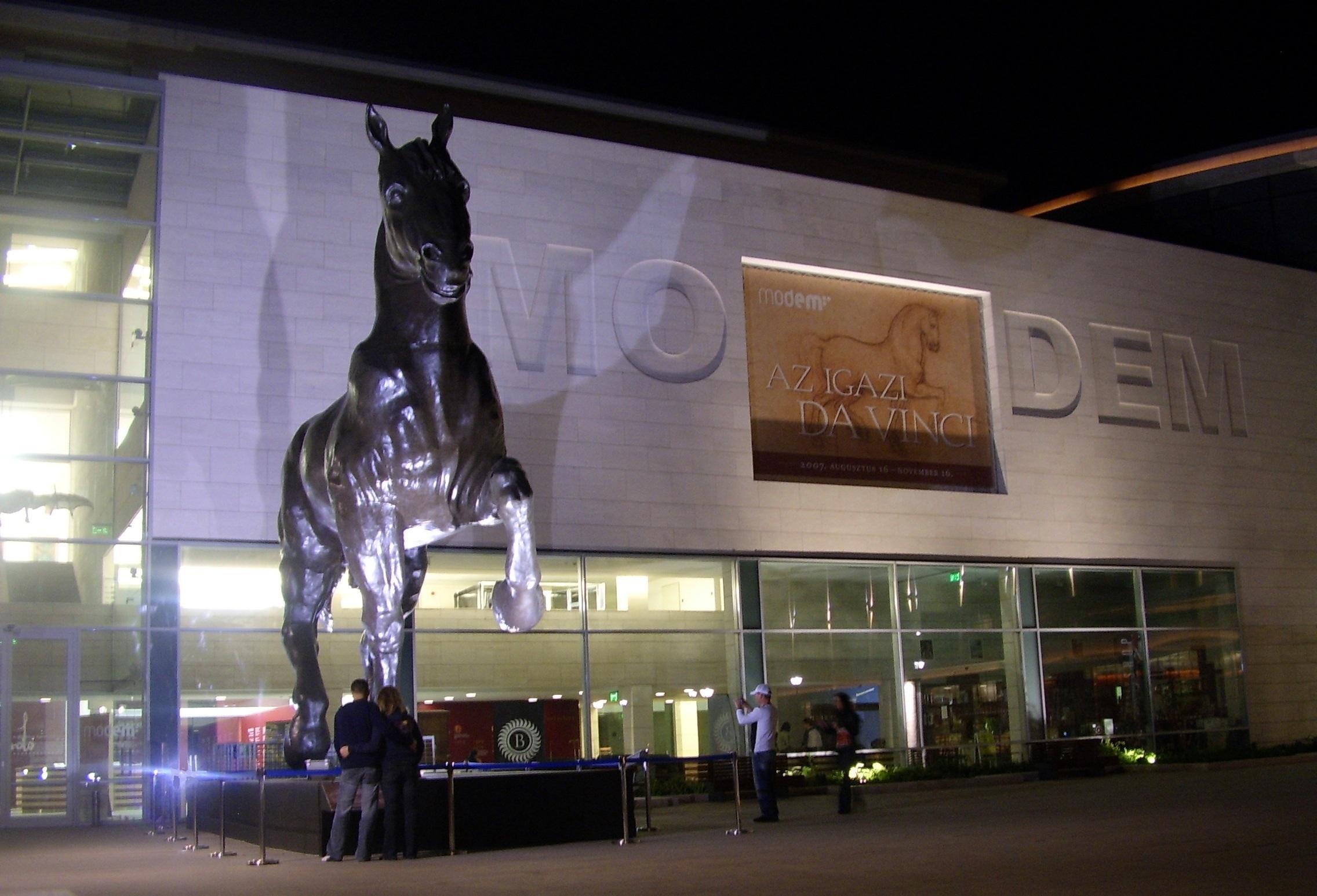 A MODEM Az igazi Da Vinci című kiállítás idején 2007-ben