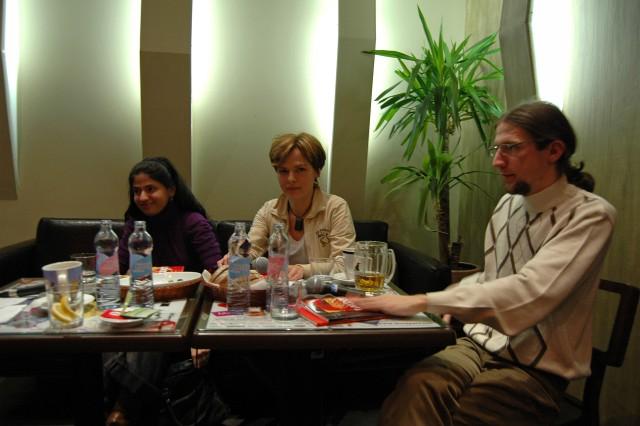 Az Impulzus három résztvevője: Turi Tímea, Horváth Györgyi, Lapis József