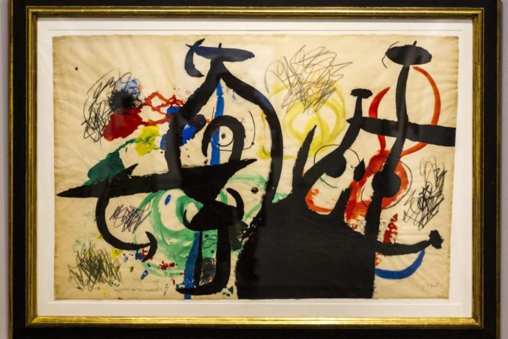 Joan Miró: Nő és madarak (fotó: Szigetváry Zsolt, MTI)