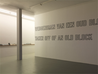 Lawrence Weiner: A CHIP TAKEN OFF OF AN OLD BLOCK