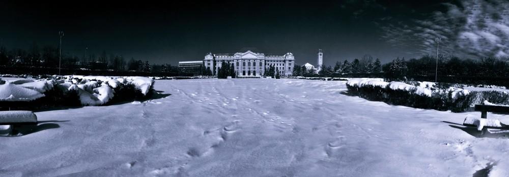Vajda István - A Debreceni Egyetem főépületének panorámaképe