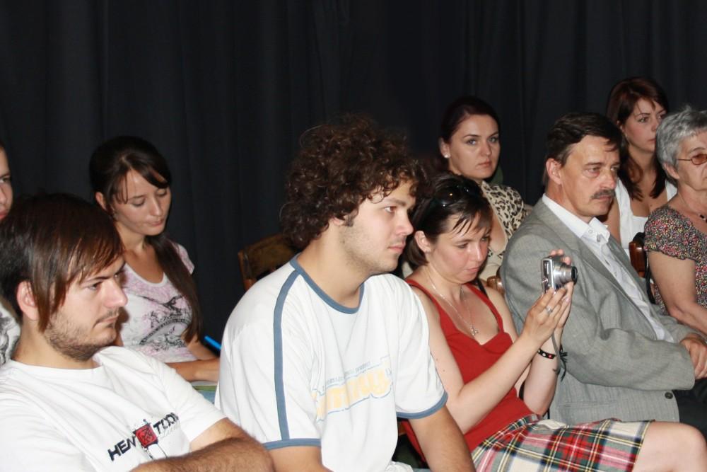 Az est közönsége a Színláz Stúdióban