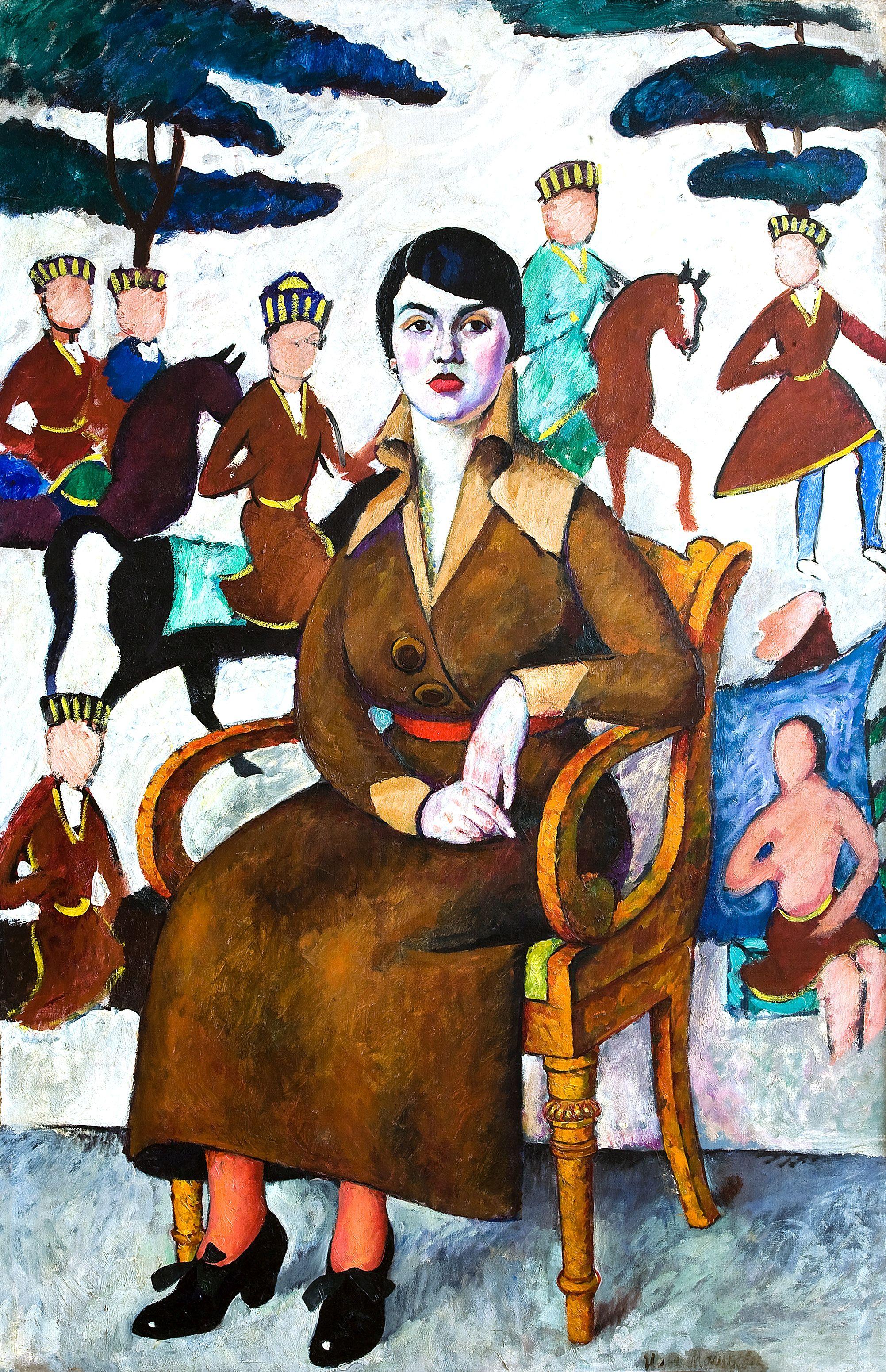 Ilja Maskov Székben ülő nő portréja , 1913