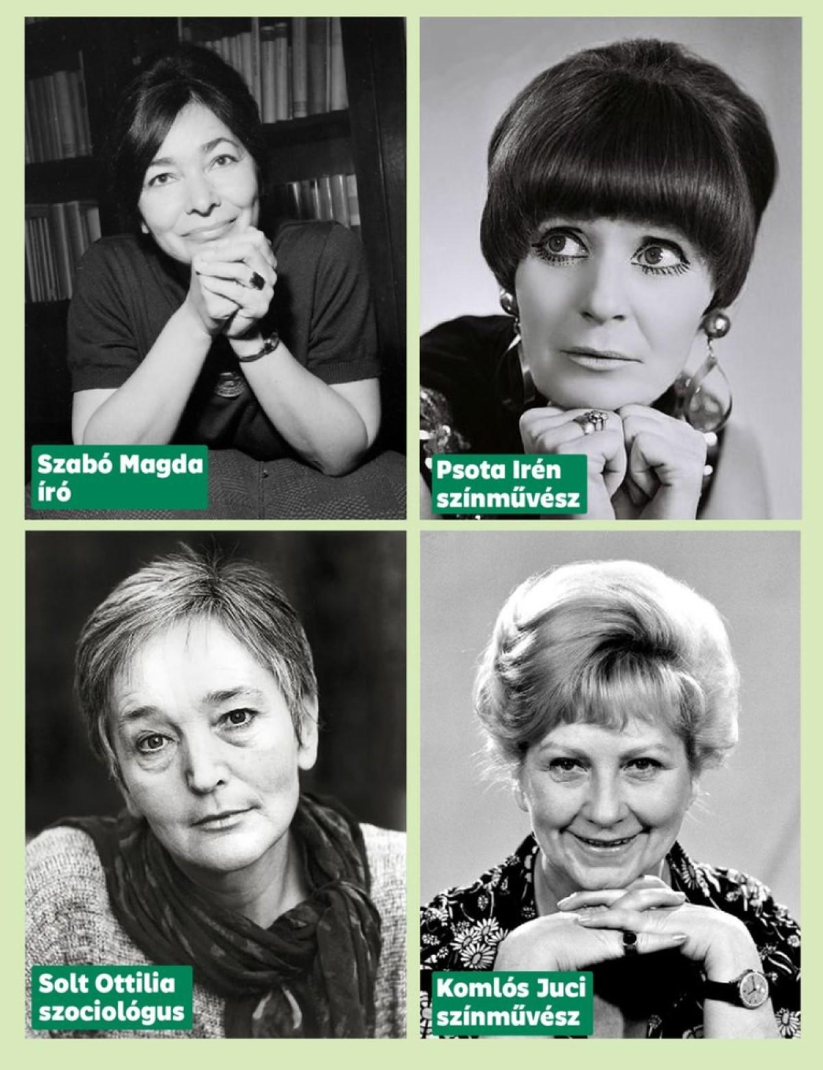 Szabó Magda, Psota Irén, Solt Ottilia és Komlós Juci (kép: Őrsi Gergely Facebook-oldala)