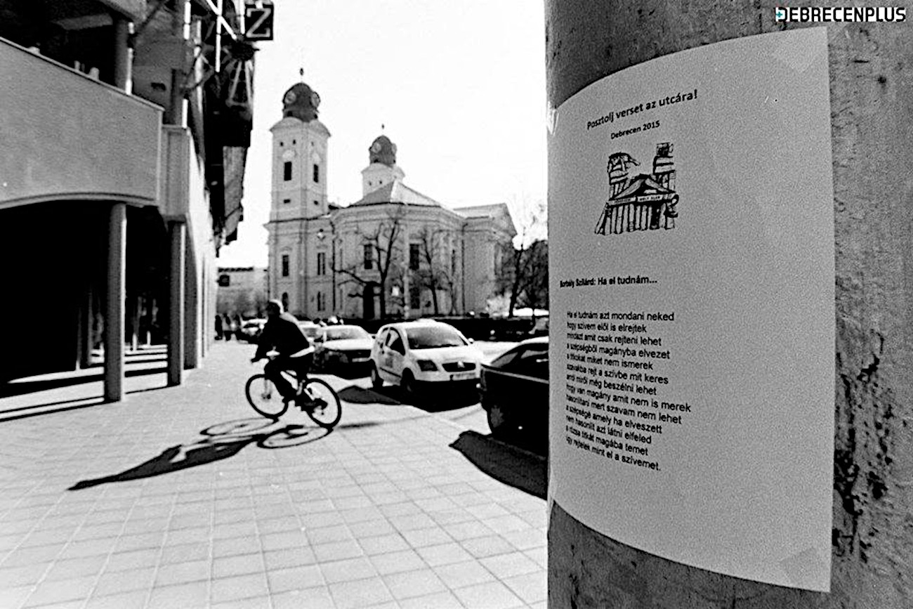 A Posztolj verset az utcára! egy 2015-ös verse (fotó Konyhás István)