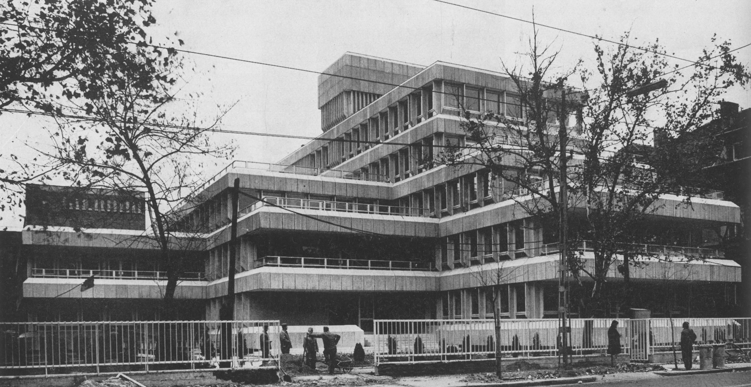 OKISZ, 1973 (fotó: Magyar Építőművészet)
