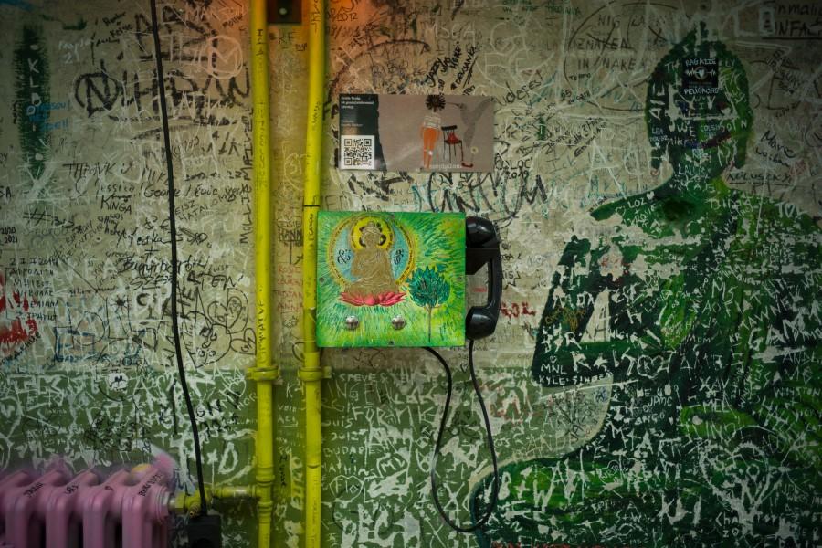 Erdős Virág telefonkagylója (fotó: Todoroff Lázár)