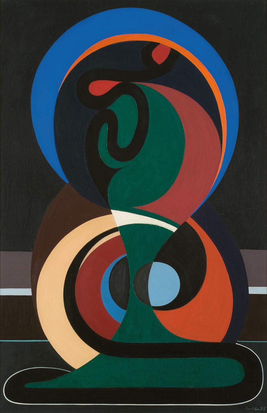 Auguste Herbin: Kompozicio, 1935, Párizs, Galerie Le Minotaure ©archives galerie Le Minotaure
