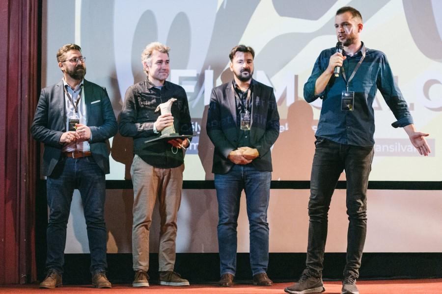 László Barna (jobbra) a Filmtettfeszten (Forrás: Filmtett)