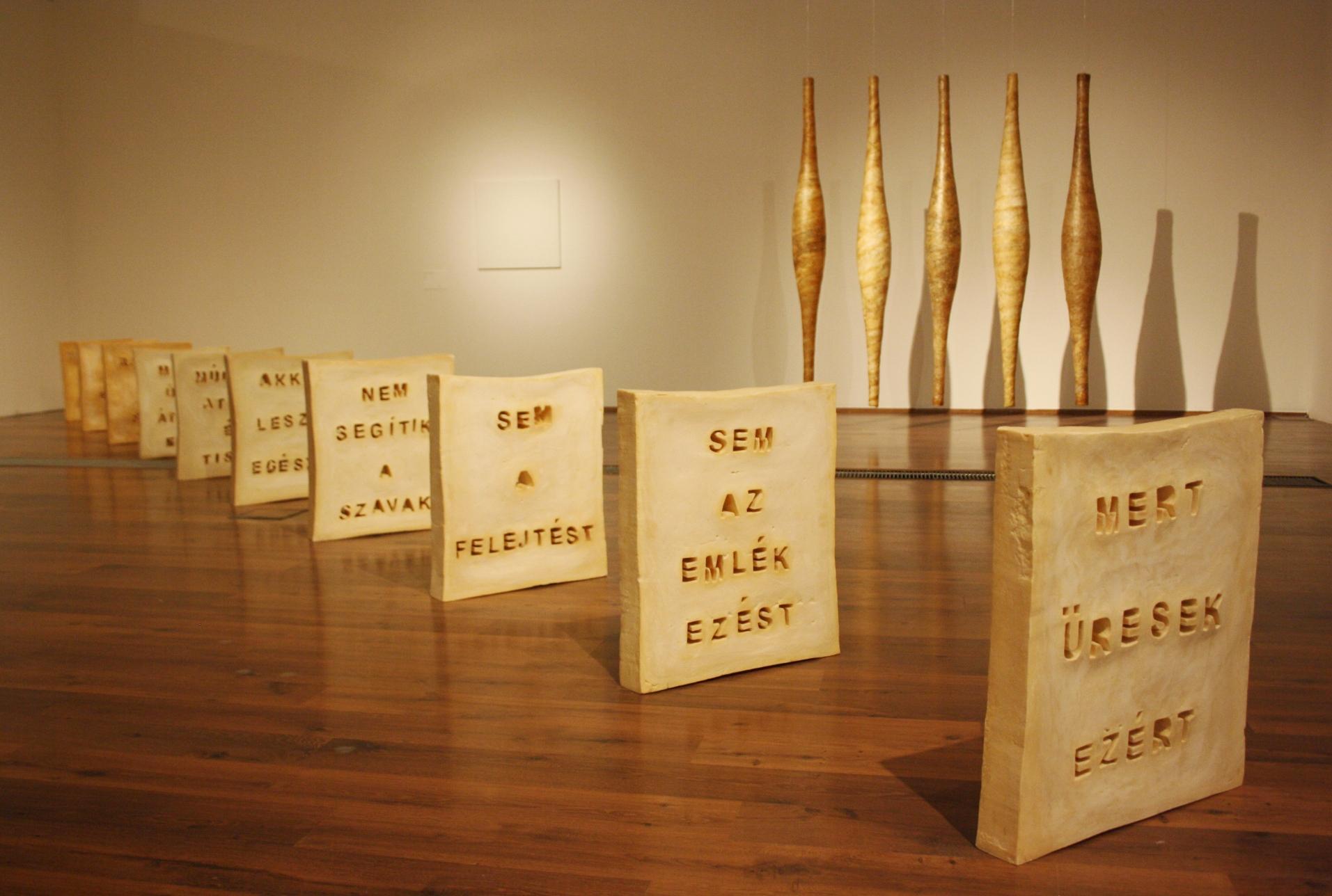 Baglyas Erika, Ami marad, 2007, tíz darabos szappaninstalláció