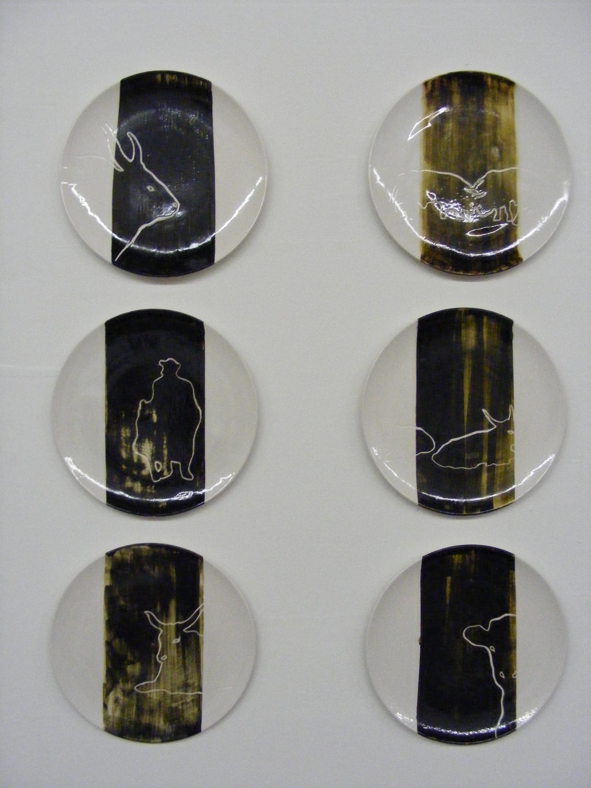 hortobágyi motívumokkal díszített kerámiák