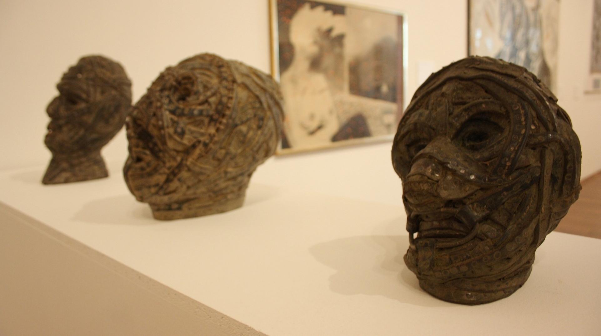 Gaál József, Bello Brutto IV., VI., VII., 2007, fa, bőr, vas