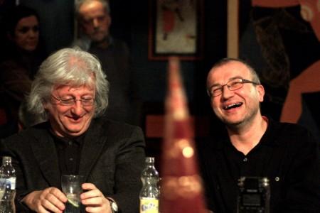 Esterházy Péter (balra) és Bónus Tibor