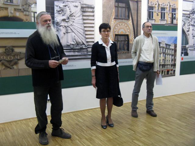 A megnyitón beszédet mondott (balról jobbra) Nagy Bálint, Veronika Erte és Gerle János